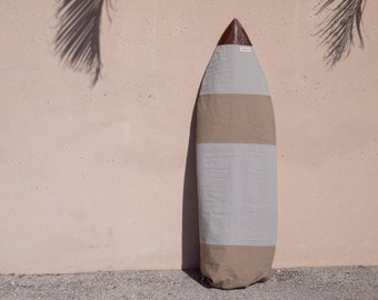 Surfboard Bag Surf Board Bag Grey Canvas Surf Cover Leather Nose