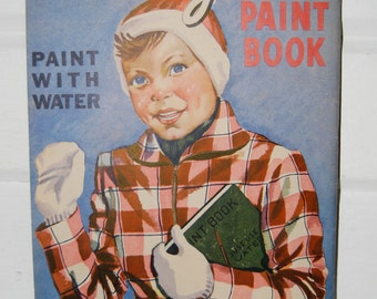 Vintage Children's Magic Paint Book, Paint with Water