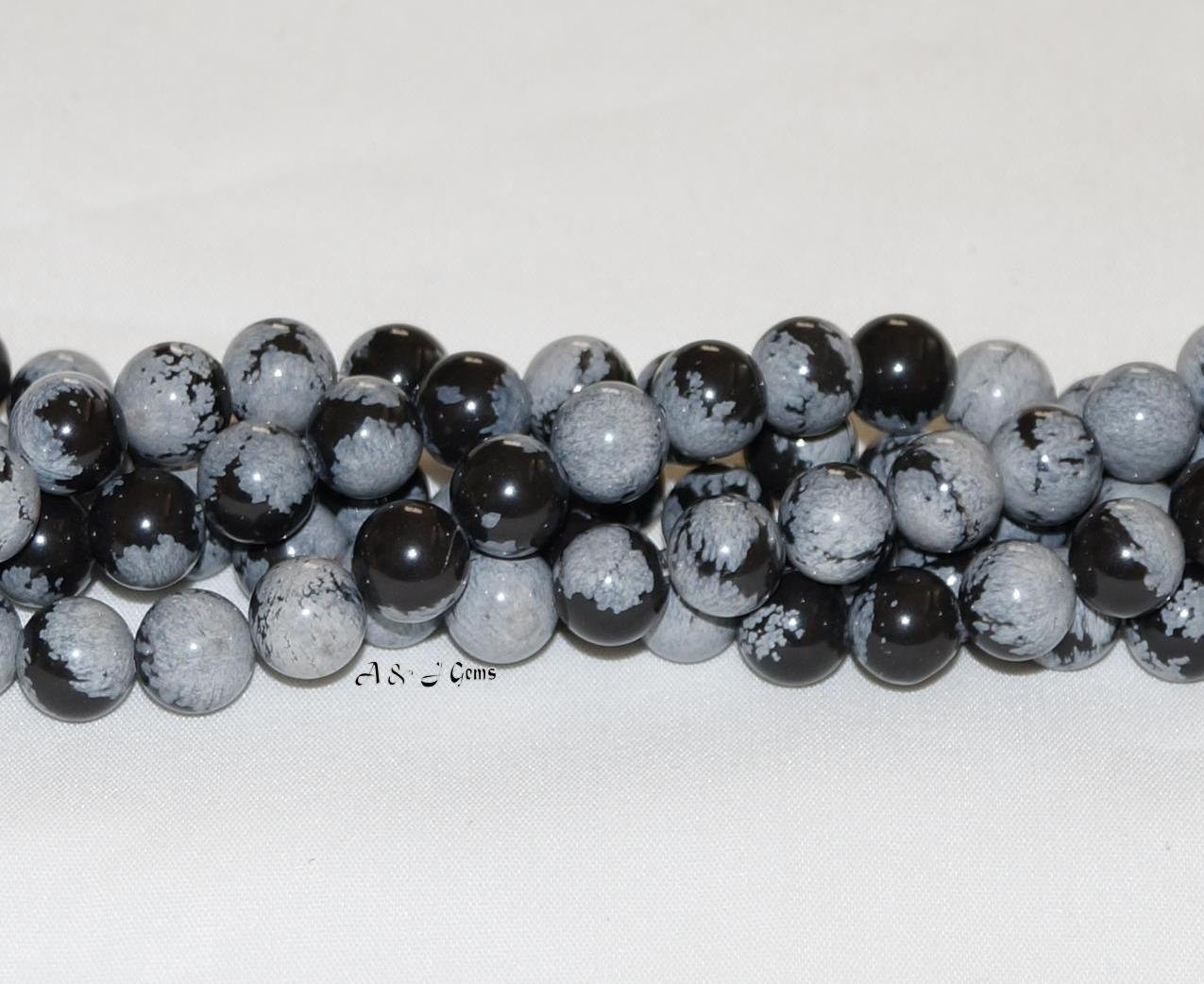 snowflake obsidian 10mm gemstone 15 5