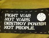 CRASS Patch - Fight War, Not Wars