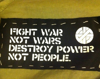 CRASS Patch - Fight War, Not Wars