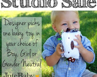 Studio Sale! Baby Teether Toy in your choice of boy, girl, or gender neutral