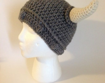 Viking Hat Knitting Pattern Free : Crochet viking hat pattern Etsy