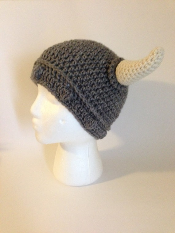 Viking Hat Crochet Pattern by grammabeans on Etsy