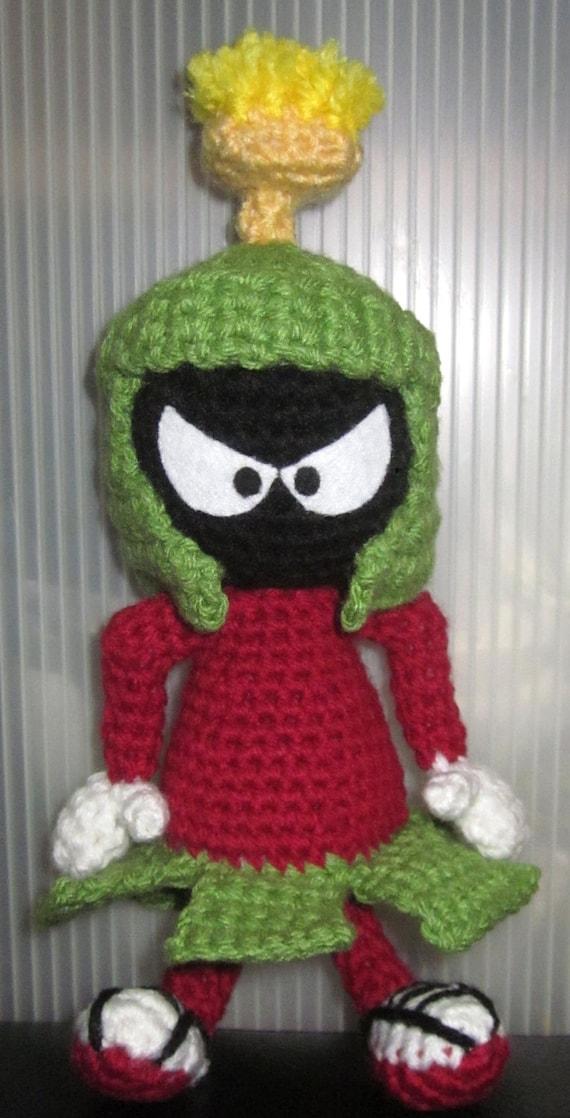 Amigurumi Crochet Wikipedia : Gallery For > Looney Tunes Marvin The Martian Plush