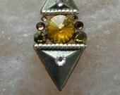 Tribal Bindi hand made with all Swarovski crystals - bindi Inca style, gold