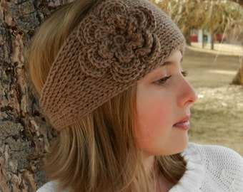 Knit Headband Pattern With Crochet Flower : This item is unavailable