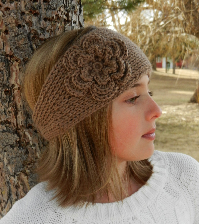Tunisian Knit Look Crochet Headband Pattern With