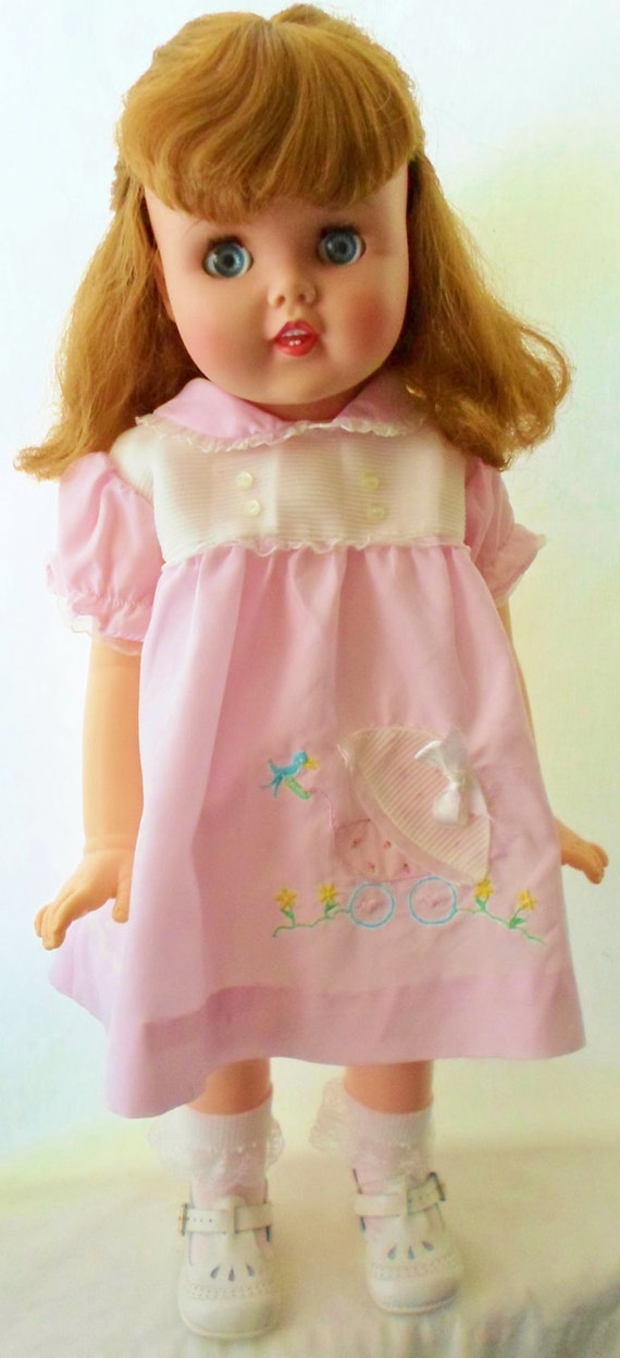 Vintage Little Girl Toddles 25 Walking Doll By