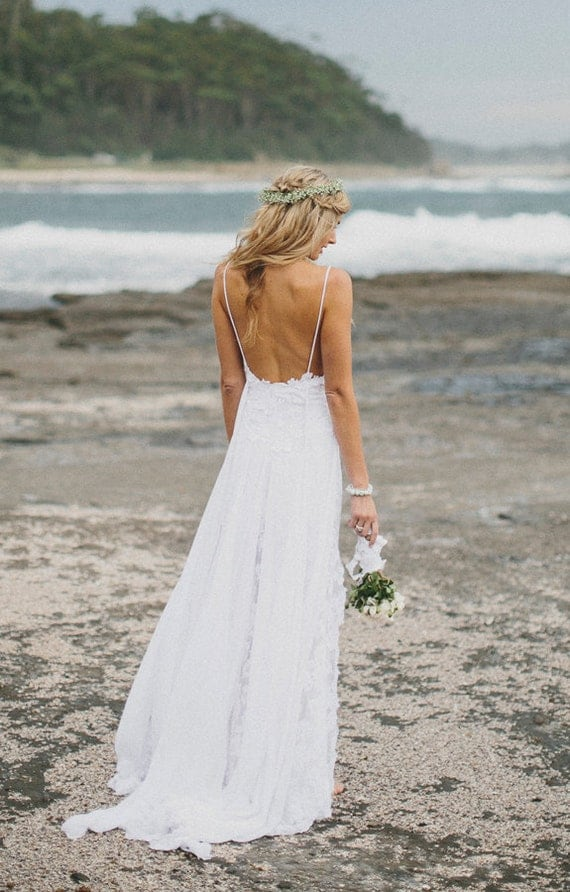 Low Back Flowy Wedding Dress : Items similar to grace loves lace wedding dress on etsy