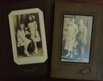 Two Vintage 20s Chicago Cabinet Photographs