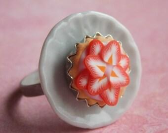 Strawberry Tart Ring-Adjustable