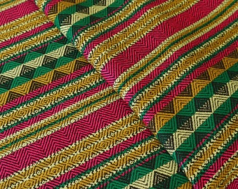 Aztec Fabric, Peruvian Fabric, Woven, Chava Lime, 2 Yards