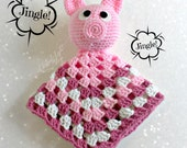 Baby Piggie Security Lovey Blanket