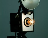 Handmade Upcycled Vintage Ansco Camera Lamp