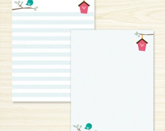 Cute Bird Note Pad Set or Single