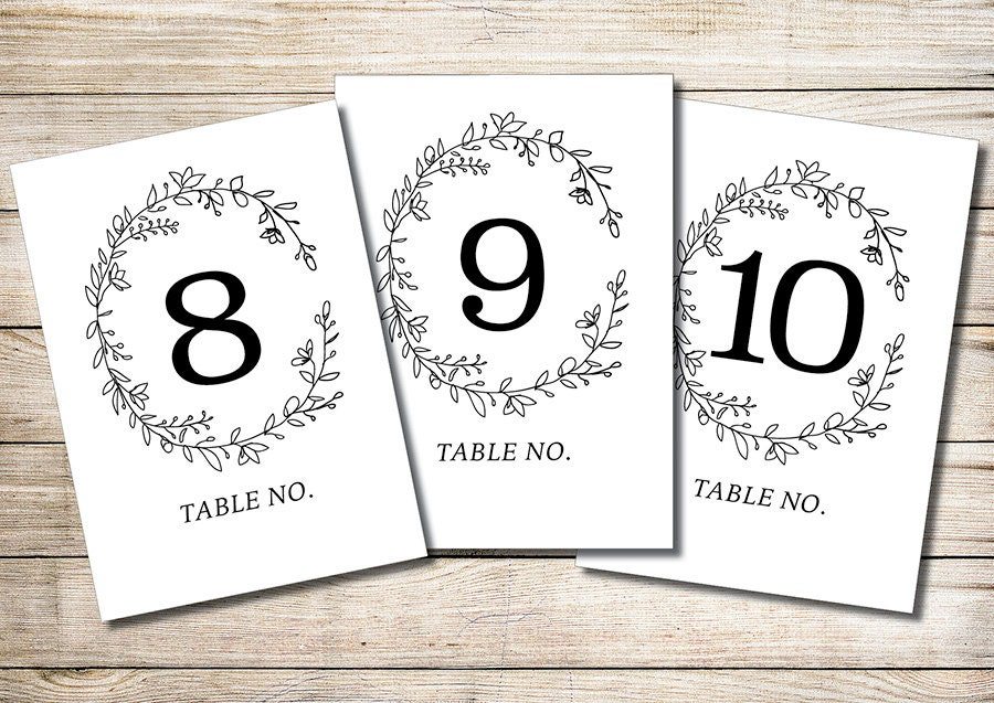 Printable Table Numbers 1-30 INSTANT DOWNLOAD // Wedding