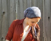 SCT7 - Gray-blue Stretch lace Christian Headcovering Headband Headscarf with Ties