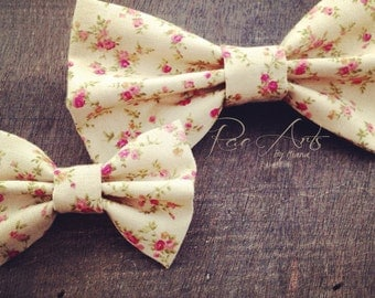 Dainty Vintage Floral Bow - Mini