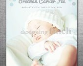 Boy Birth Announcement Photo Card, Modern Dots, Printable and Customizable #118