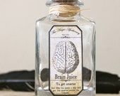 Brain Magic Potion Mad Scientist steampunk apothecary bottle
