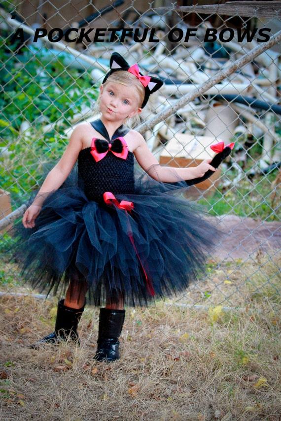 Black Cat Tutu Dress Costume