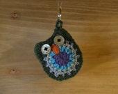 Crochet Owl Keychain Blue Green Purple Stocking Stuffer Handmade Littlestsister