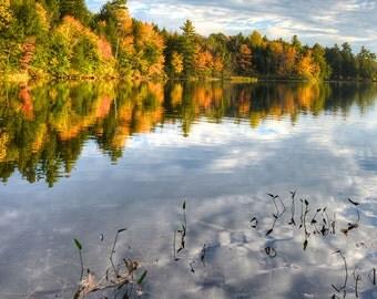 Photography, Fall Foliage, Maine, HDR, Upper Range Pond, High Dynamic Range