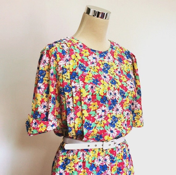 Betty Barclay vintage dress / floral tea dress / day dress.