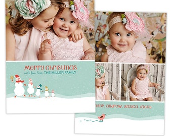 SALE Christmas Card Template for Photographers Christmas Photography Template - HC203