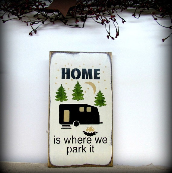 Camping Gift Funny RV Sign Camping Campsite Sign RV By