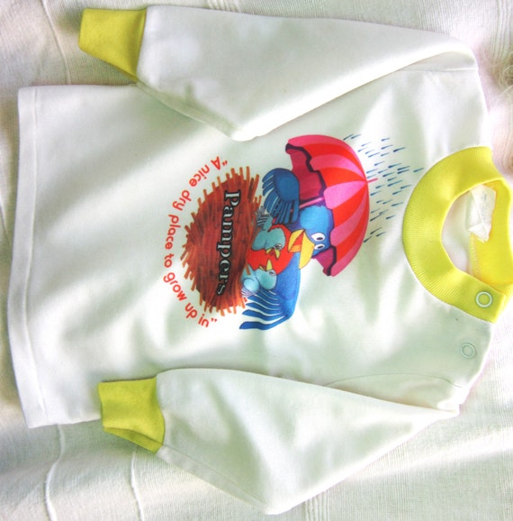 items similar to vintage baby 39 s pampers tshirt 1970s. Black Bedroom Furniture Sets. Home Design Ideas