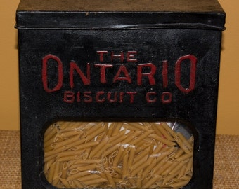 Advertising Tin Buffalo Ontario Biscuit Kitchen Decor