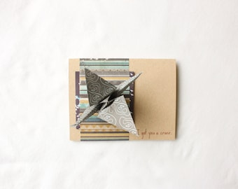 Origami Kit Card: I Got You a Crane--DIY Kit--DIY Origami
