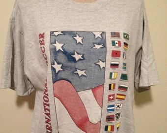 Vintage International Soccer Tshirt