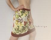 Skirt. Home clothing. Woman's fleece skirt with crochet edges.