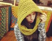Handmade Crocheted Hooded cowl, Womens Hoodie,Mens Hooded cowl,Winter hat,Winter Hood