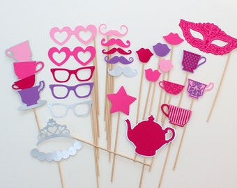 Princess Tea Party Photo Booth Props - Perfect for a Little Princess Party