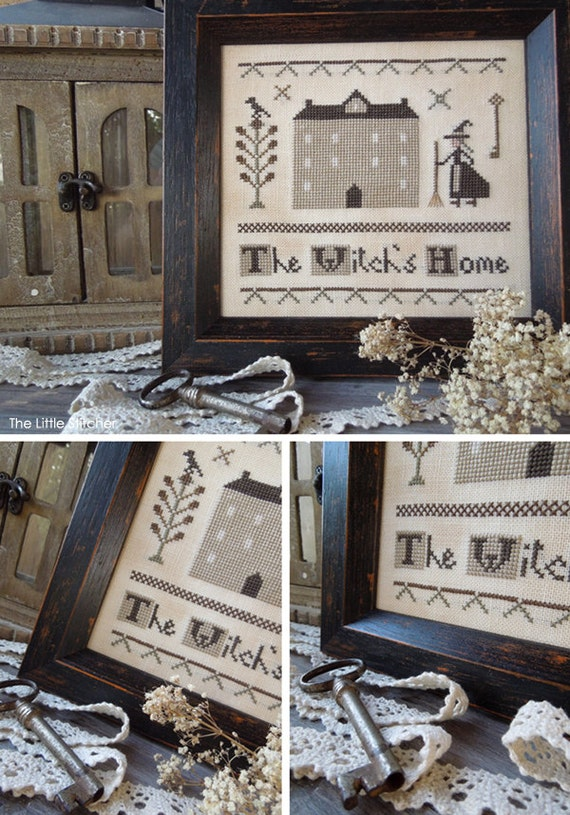 The Witch's Home - PDF Digital Cross Stitch Pattern