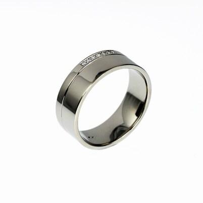 Men 39 S Palladium Ring Diamond Wedding Men By TorkkeliJewellery