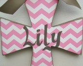 Hand painted personalized childs wooden cross