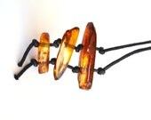 Ethno style Unique Baltic Amber Pendant Necklace