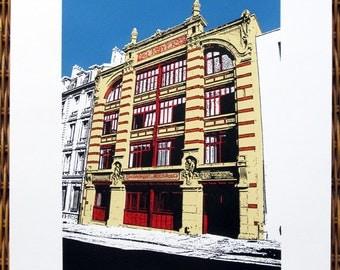 Nancy, France : L'imprimerie Royer - limited edition screenprint