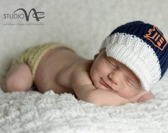 Detroit Tigers Newborn Cap.....Newborn Photo Prop...Newborn Boy Baseball Cap....