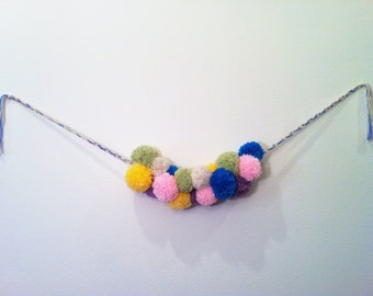 Yarn Pom Garland-Springy Multi Color