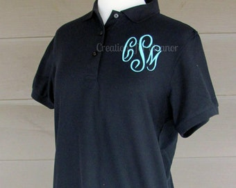 Womens Monogram Polo Shirt, Monogram Polo, Monogrammed Polo Shirt, Womens Monogrammed Shirt, Womens Polo Shirt, Womens Monogram Pullover