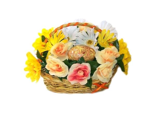 Easter Floral Flower Basket Flower Decoration Home Décor Flower Arrangement Table Arrangement