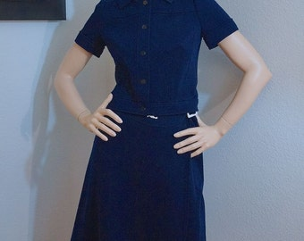 60s 70s Mod Courreges Hyperbole Jacket and Skirt Set / Numbered Couture Skirt Suit