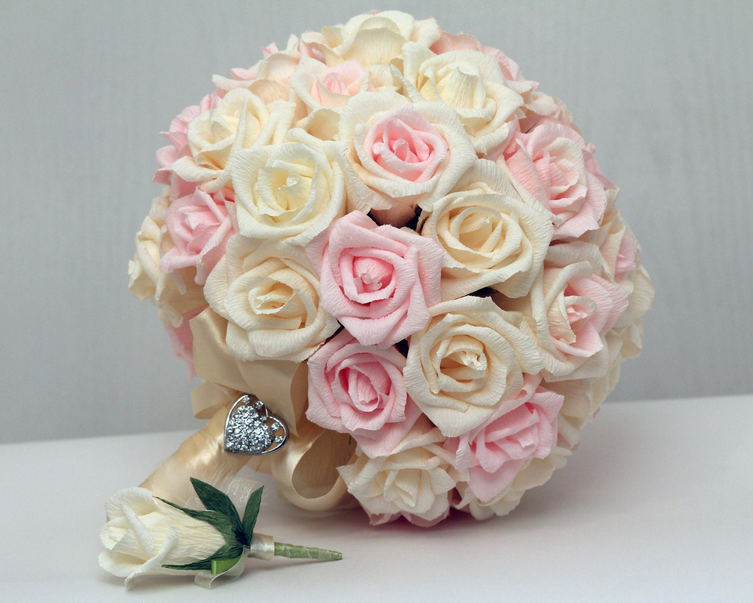 Wedding bouquet paper wedding bouquet bridal bouquet - Flowers good luck bridal bouquet ...