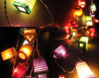 20,35 Chinese Lamp Mix Design Paper Lantern Fairy String Lights Party Patio Wedding Floor Table or Hanging Gift Home Decor Living Bedroom
